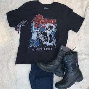 """[American Eagle] """"Bowie"""" Tour Crop Tee"""